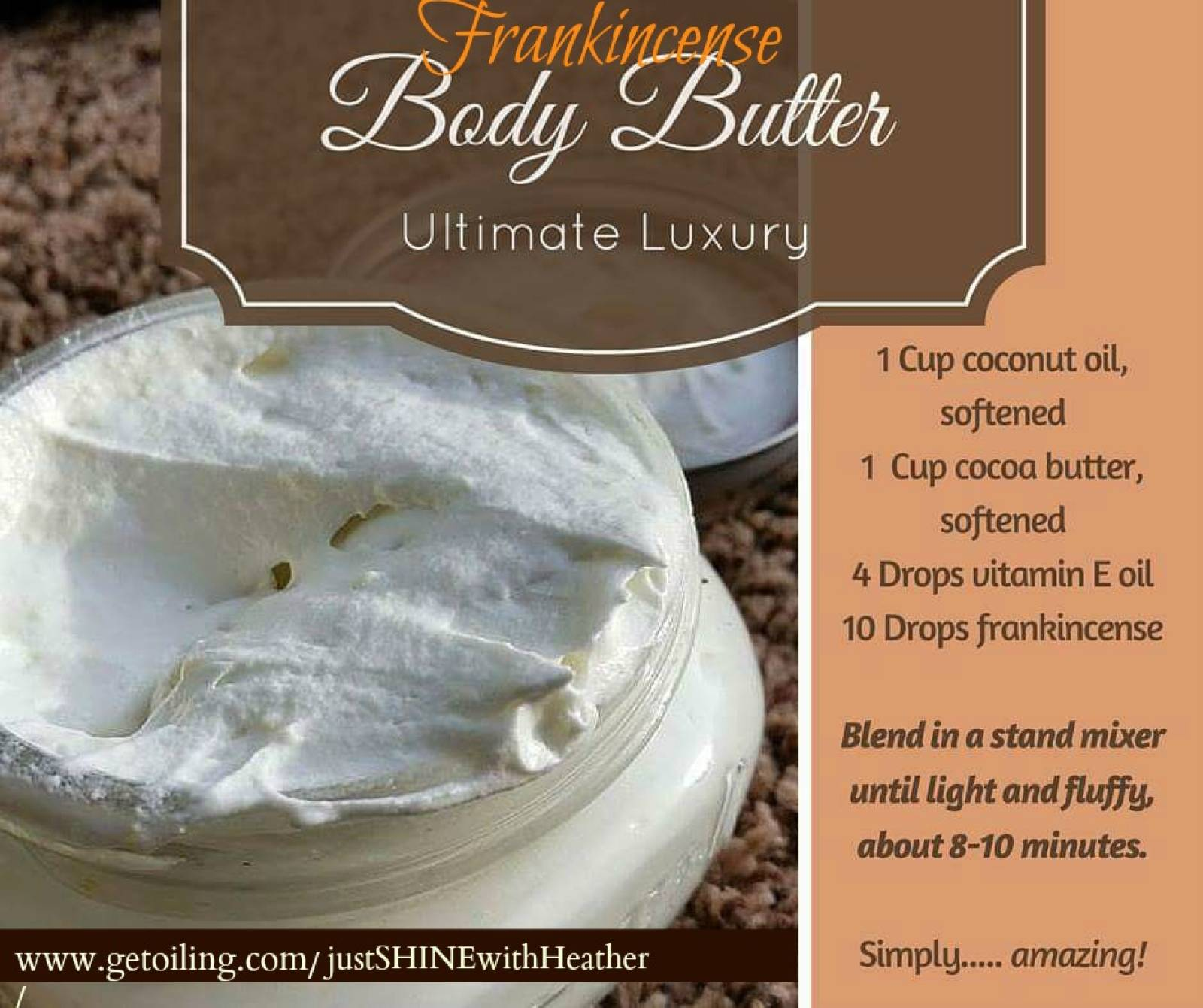 Frankincense Body Butter--The Ultimate Luxury for Winter Skin...