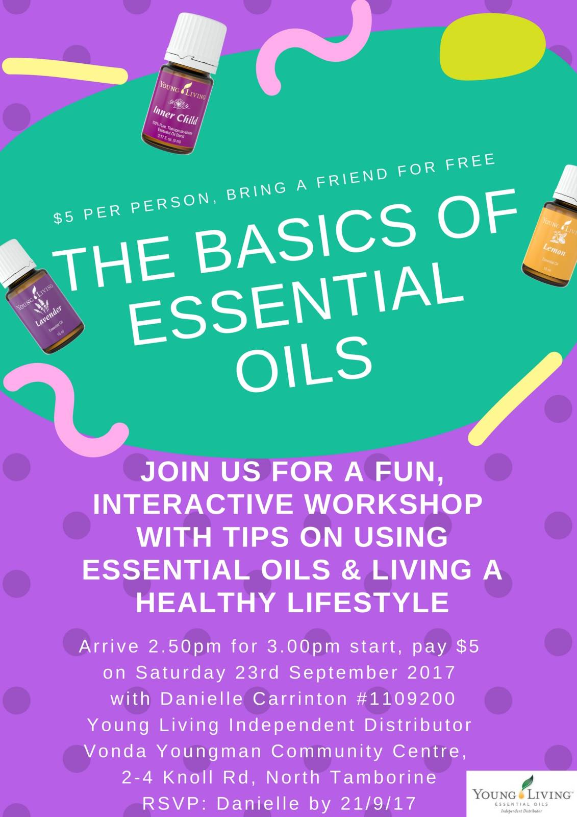 Tamborine Workshop - Fun with Essential Oils
