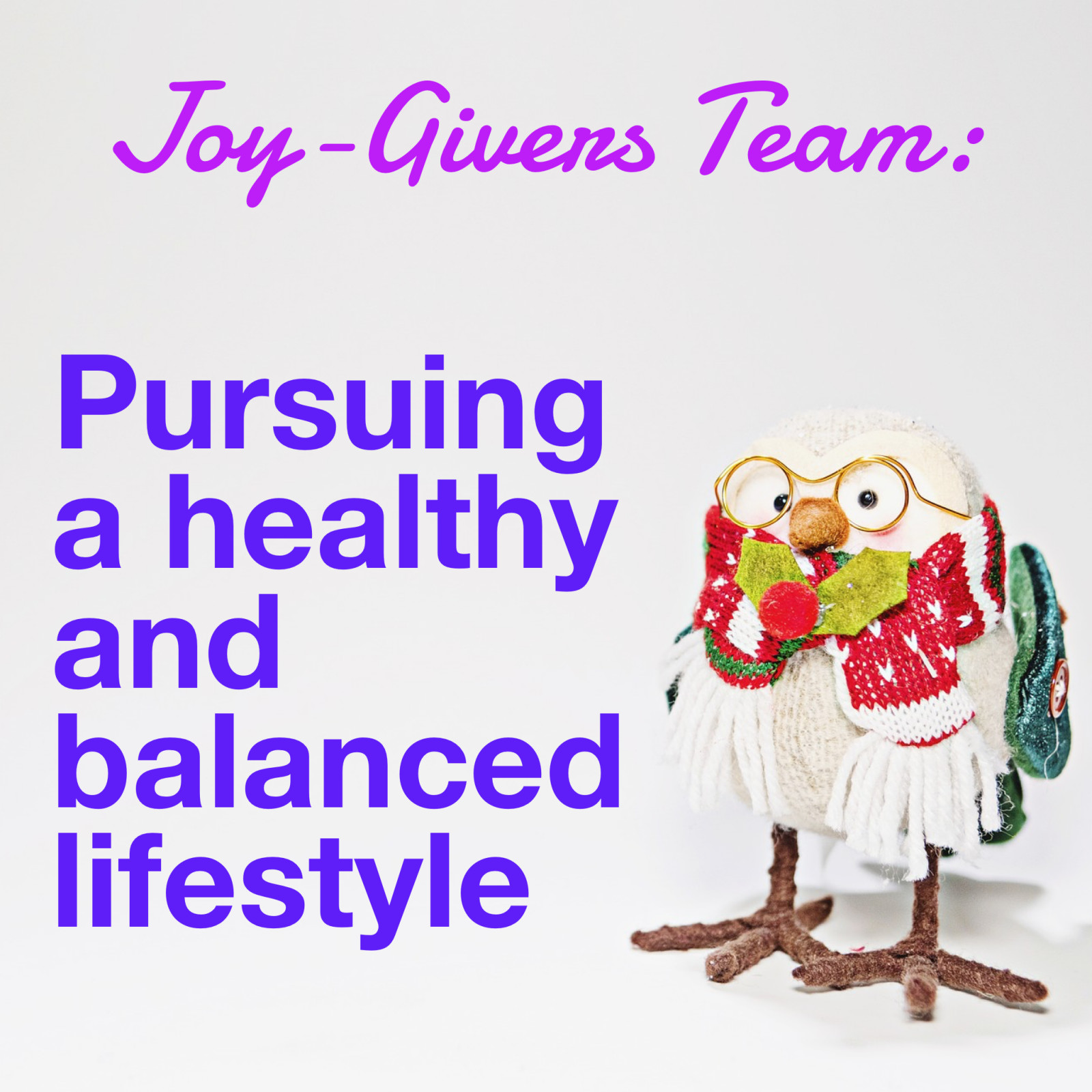 Joy-Givers Team: Pursuing a Healthy Lifestyle