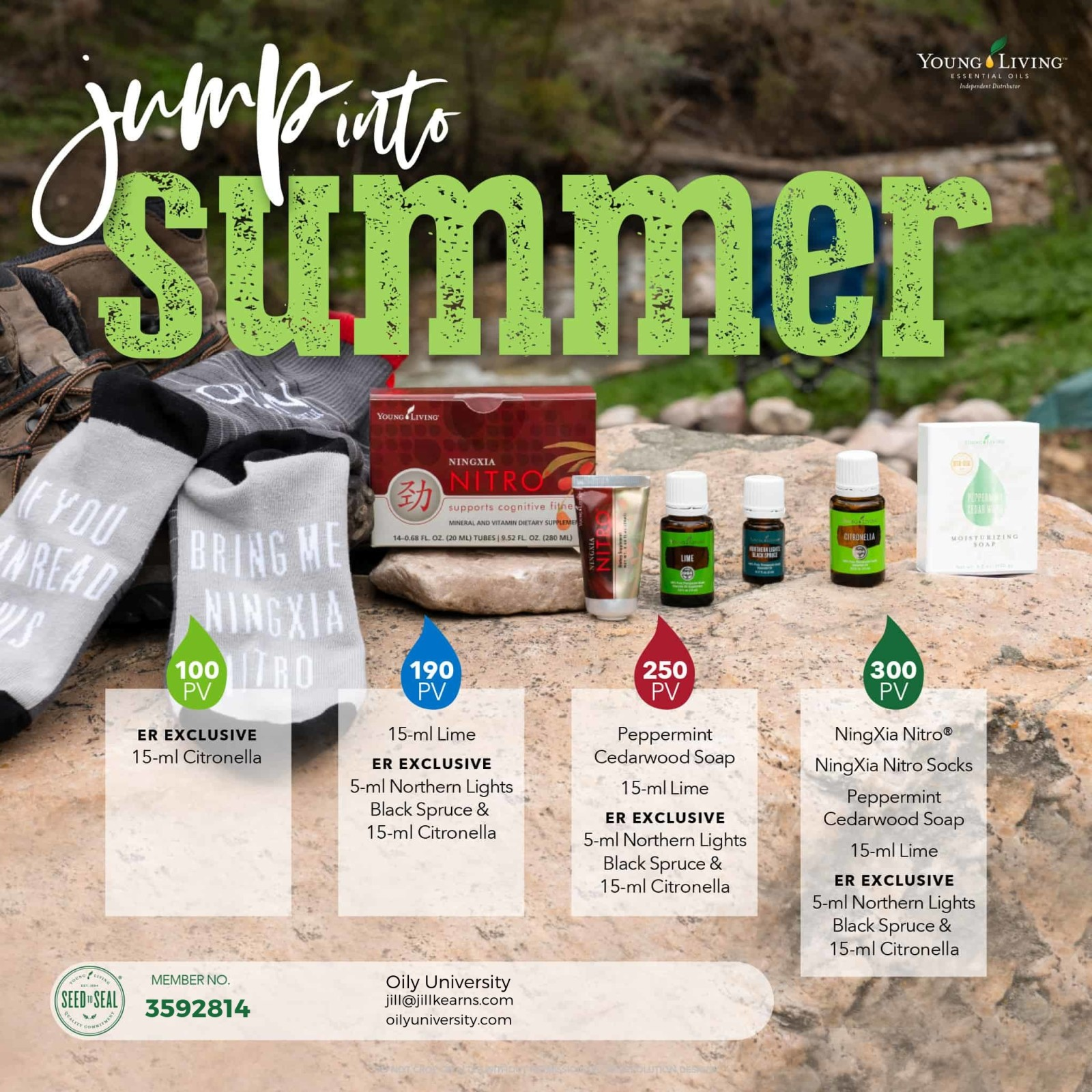 June promotions from Young Living are spot on perfect for Fathers Day!