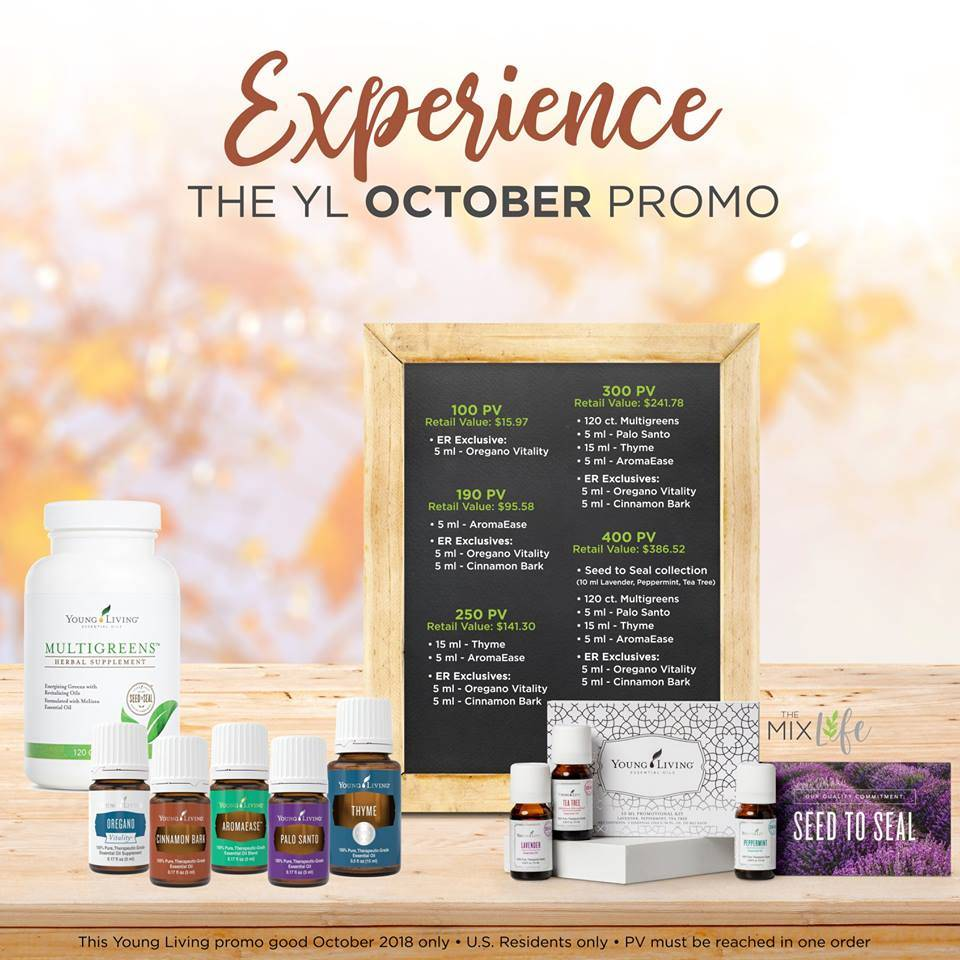October's Family Gathering & Seasonal Wellness Promos!