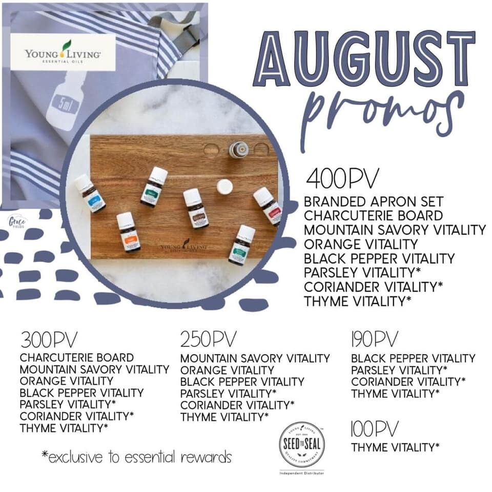 August's Yummy Promos!!!