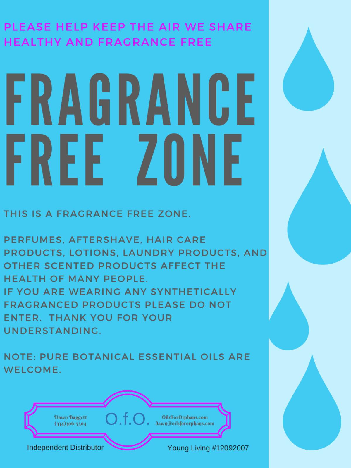 Your Home - A Fragrance-Free Zone