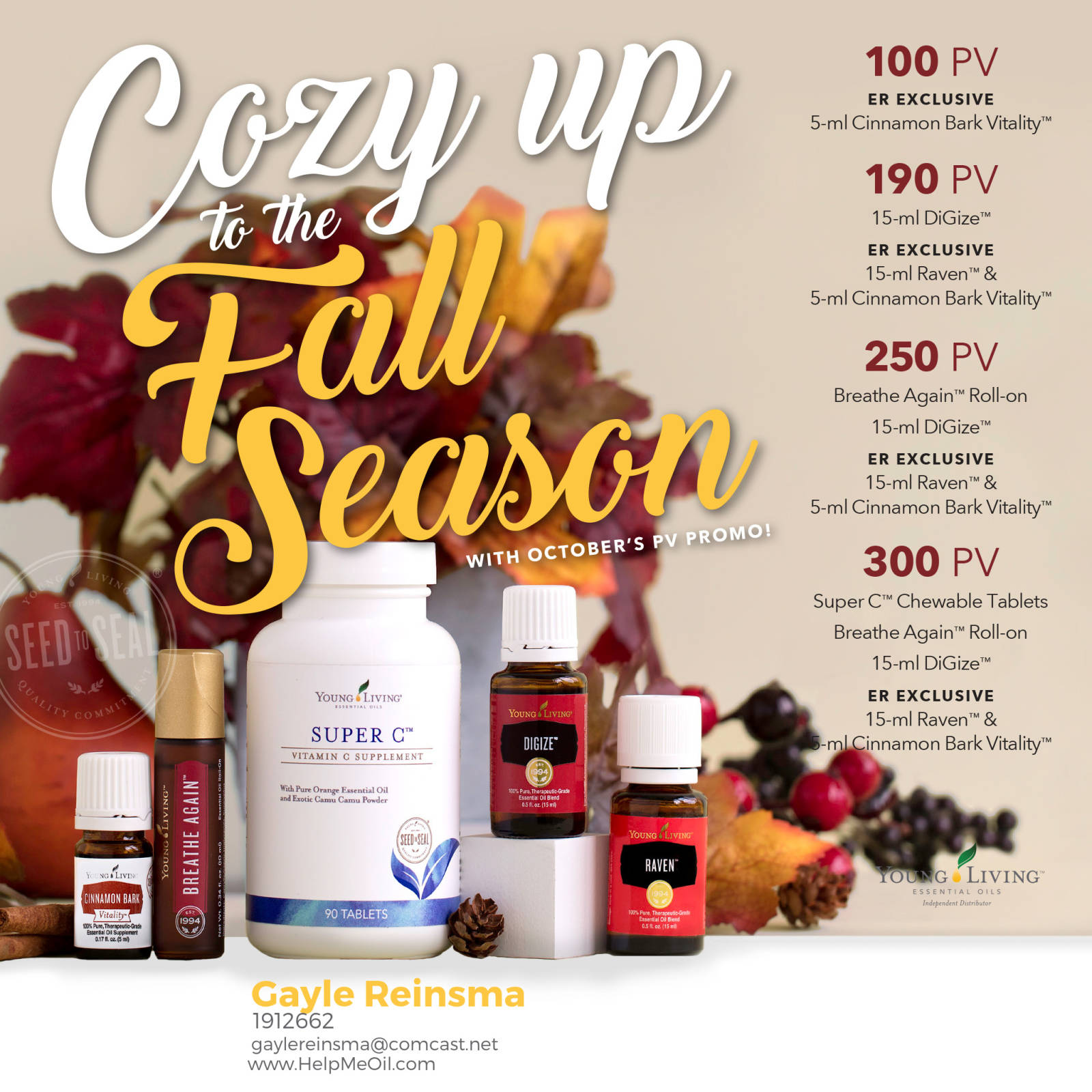 October Young Living Specials, Recipes, Tips and Tricks!