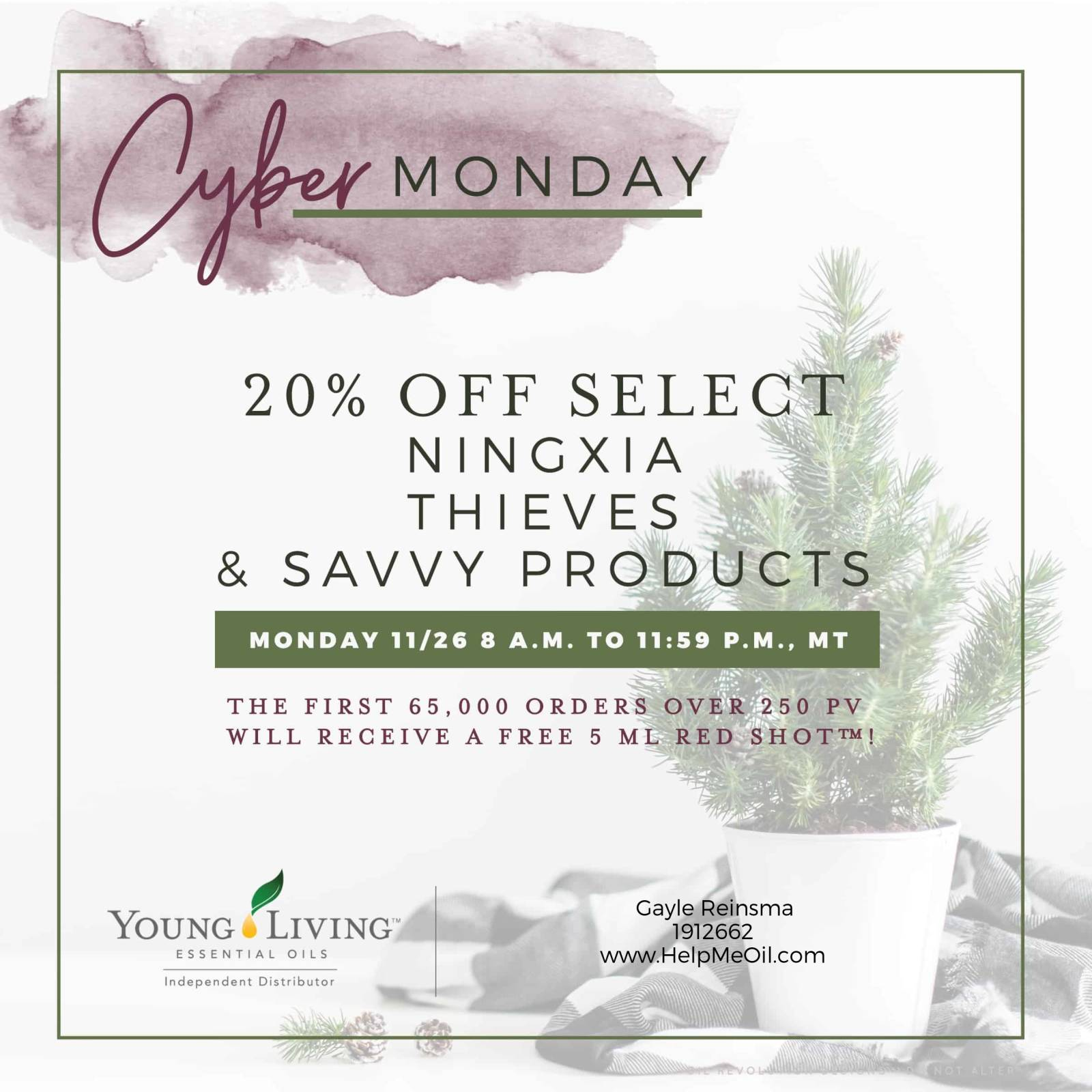 Young Living Cyber Monday Deals!