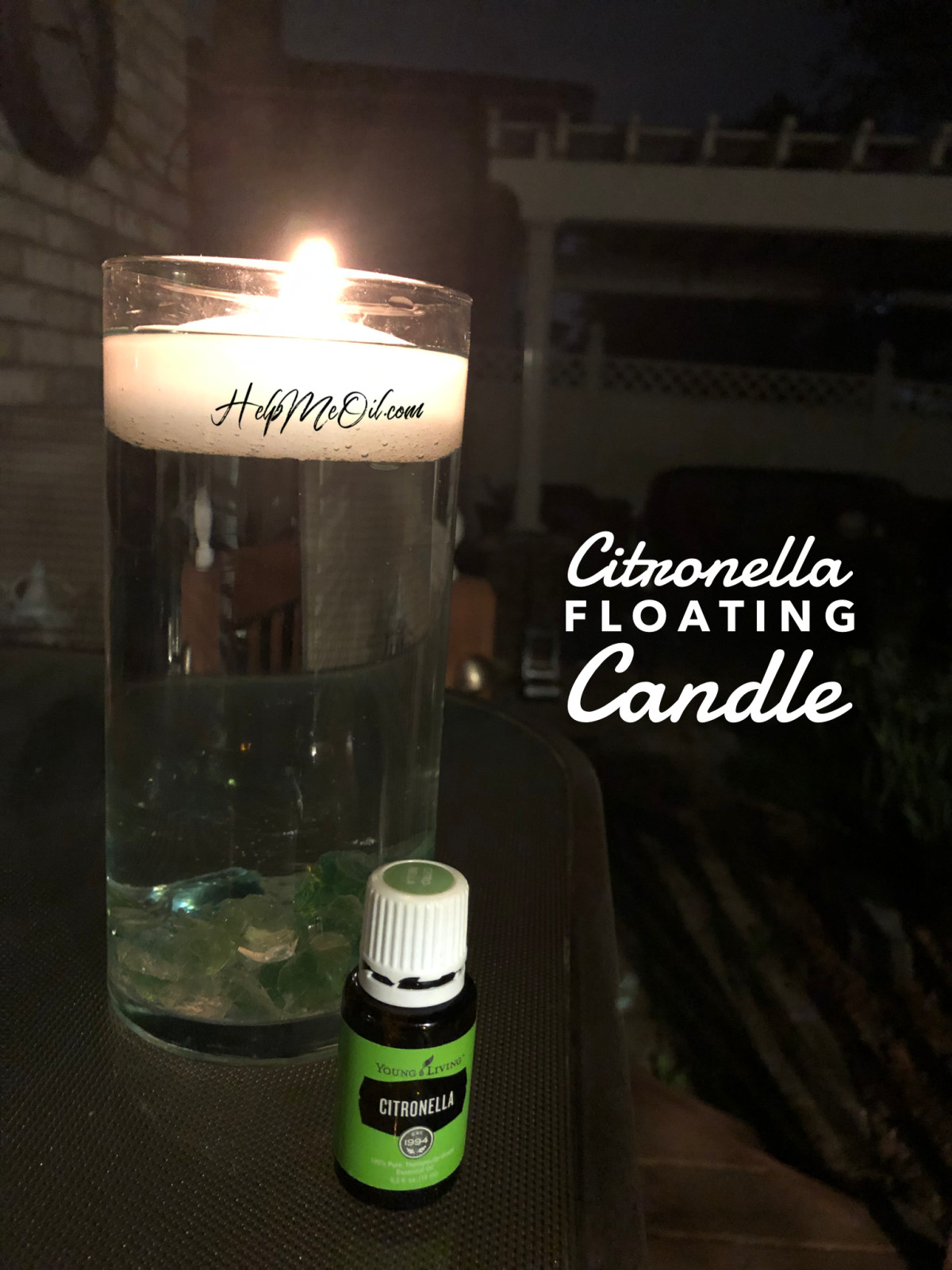 DIY Citronella Floating Candle!