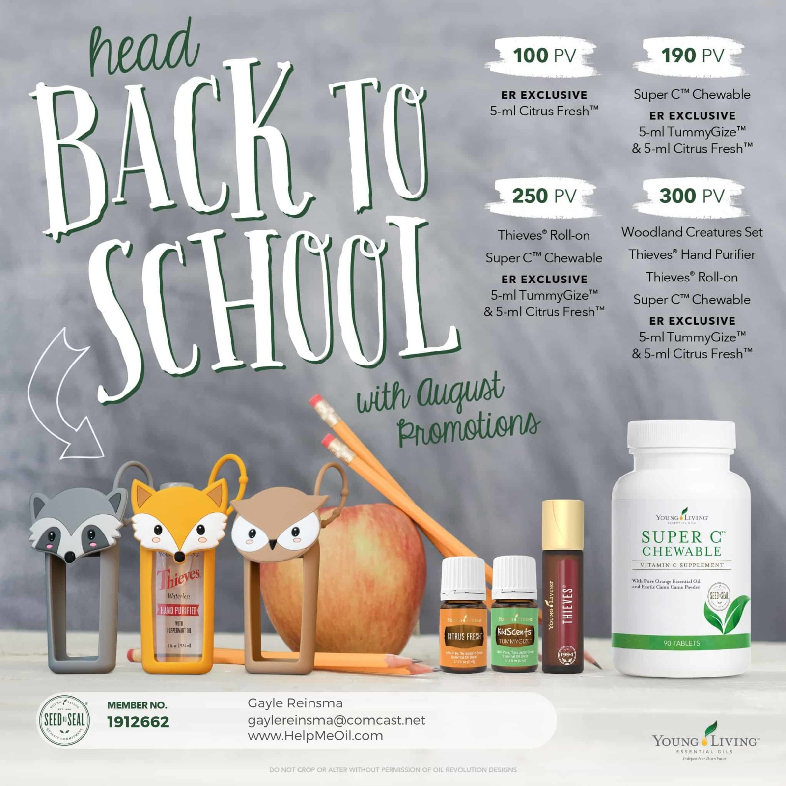 August Young Living Promo's and Classes!