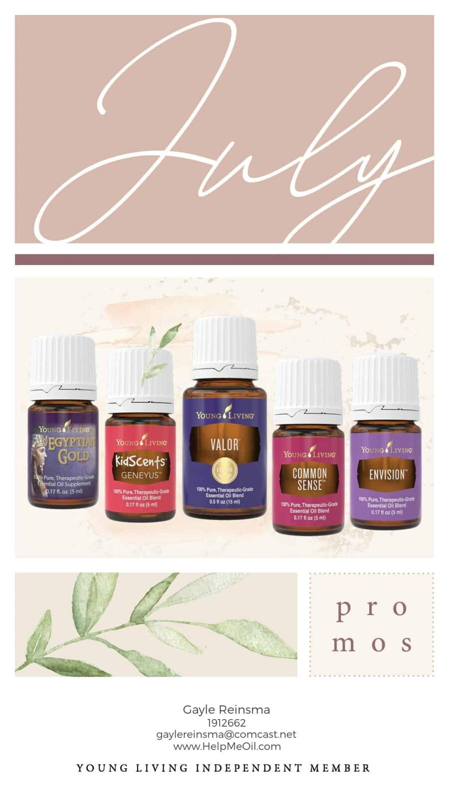 My FAVORITE kind of Young Living Promo - ALL OILS!!!!  Get Convention items On ER!