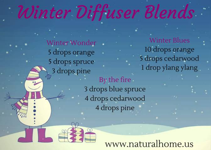 Wintery Essential Oil Blends