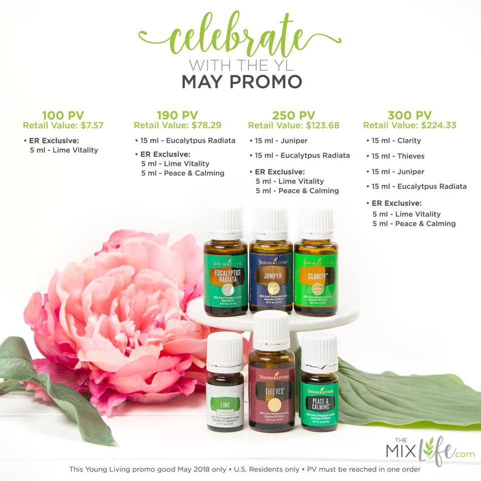 Young Living May 2018 Promos