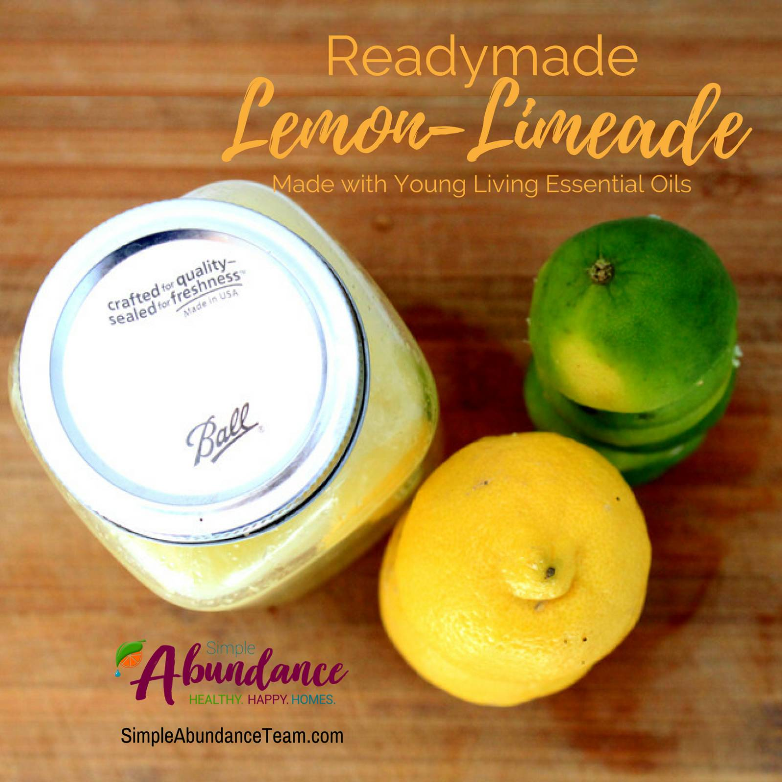 Quick and Easy Lemon-Limeade with Essential Oils