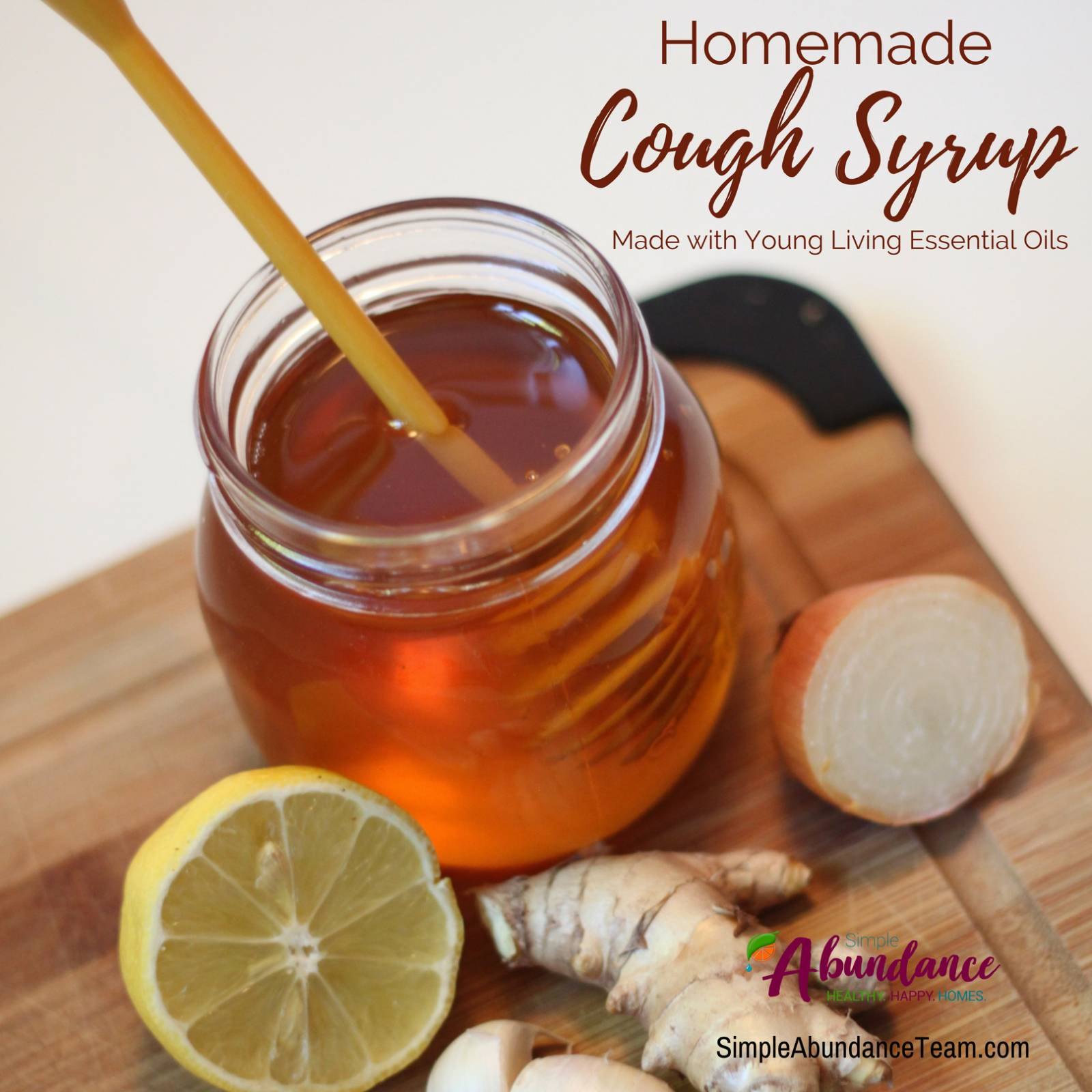 Effective Homemade Cough Syrup with Essential Oils