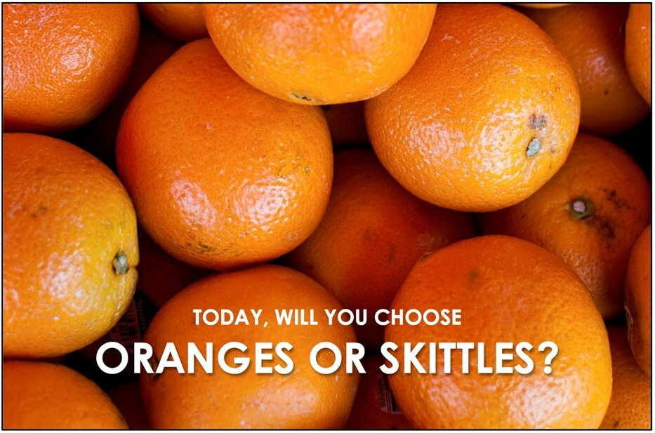 Oranges & Skittles and How They Maximize Your Life