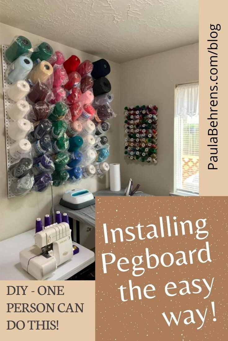 How to Install Pegboard the Easy Way