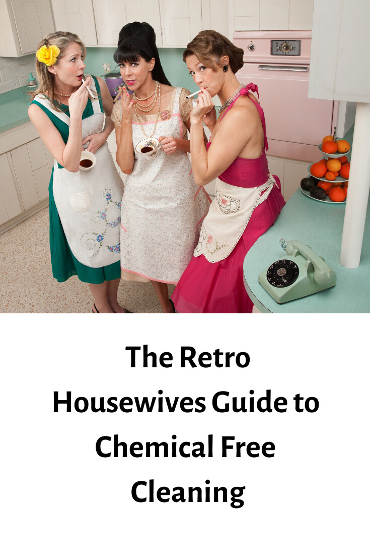 The Retro Housewives Guide To Chemical Free Cleaning  (Free Printout)