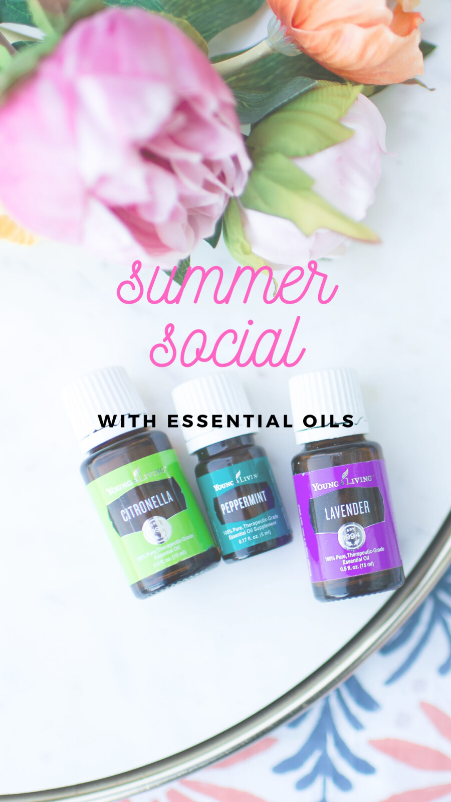 Summer Social, The Oily Way ( Printable Recipes)