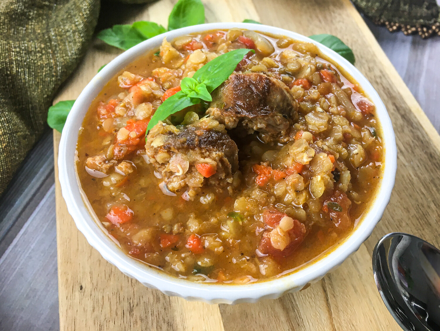 Chorizo & Red Lentil Soup