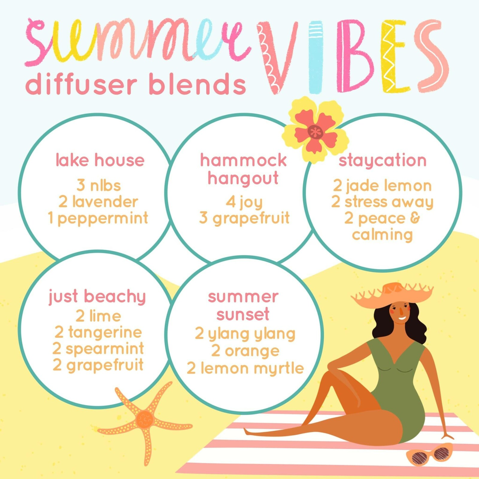 summer vibes diffuser blends