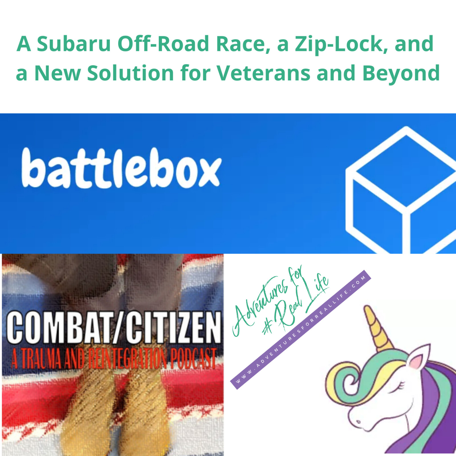 A Subaru Off-Road Race, a Zip-Lock, and a New Solution for Veterans and Beyond