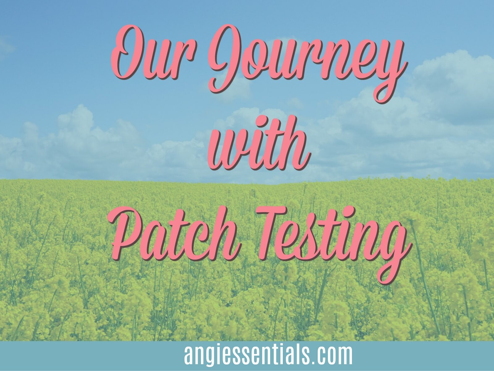Our Journey With Patch Testing