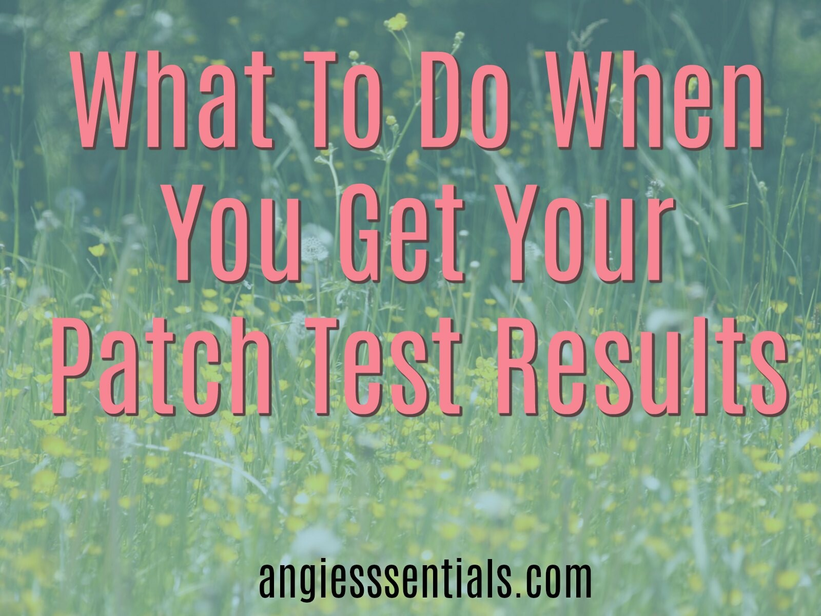 What to Do With your Patch Test Results