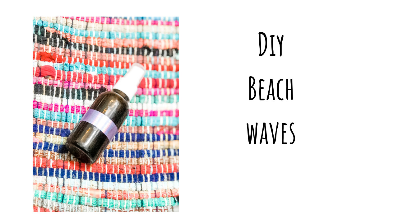 DIY Beach Waves (light hold hair spray)