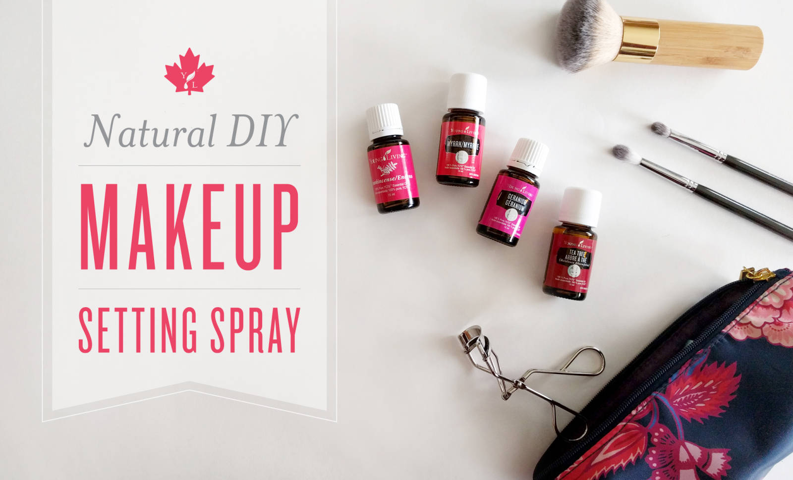 Natural DIY Makeup Setting Spray