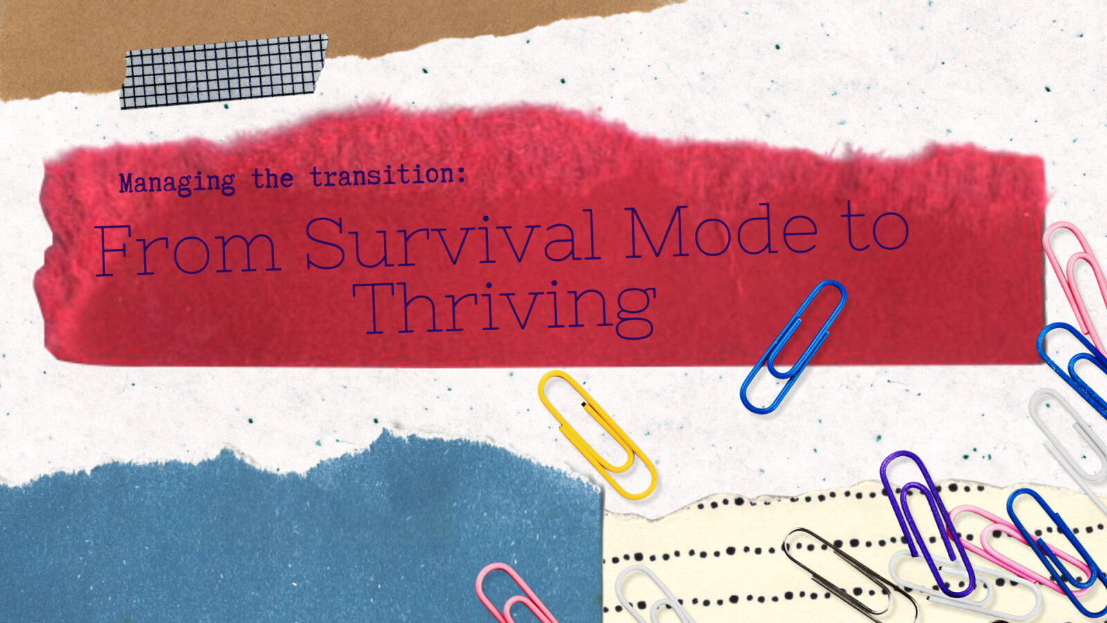 Managing the Transistion: from Survival Mode to Thriving