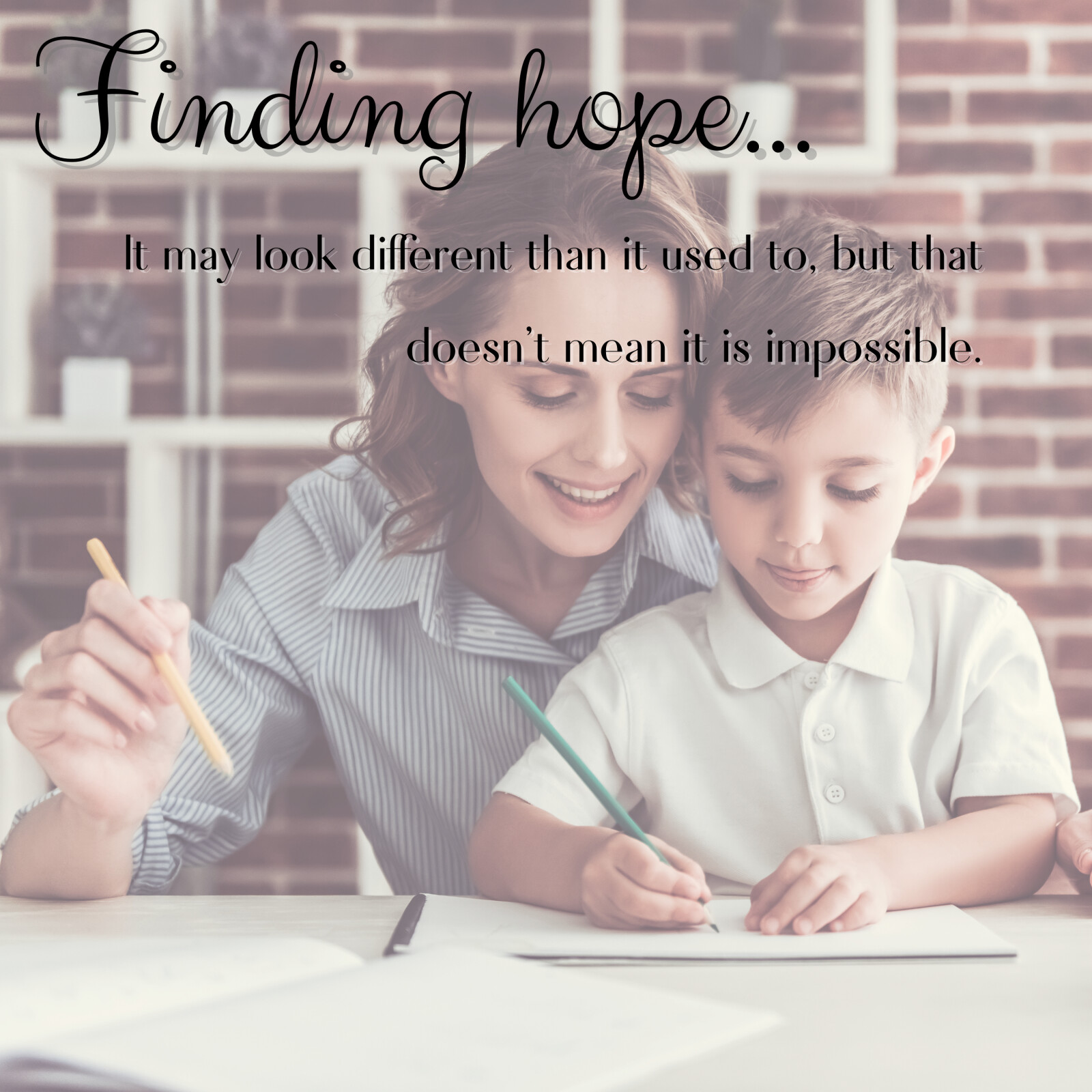 Finding hope...
